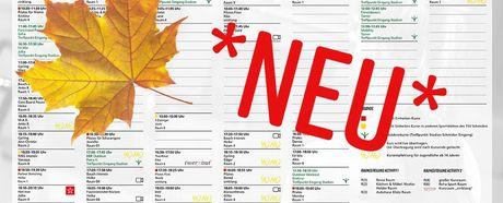 Aktueller Herbst-Kursplan online