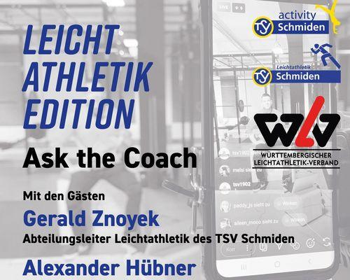 Ask the coach #8: Leichtathletik Edition am Freitag, 08.05.2020, 20:30 Uhr