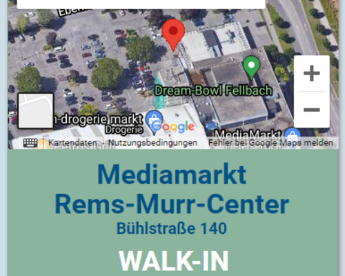 Neues Testzentrum beim Rems-Murr-Park