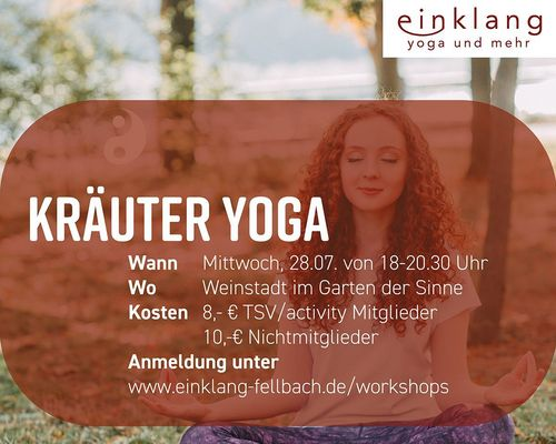 Workshop: Kräuter Yoga am 28.07. um 18:00 Uhr